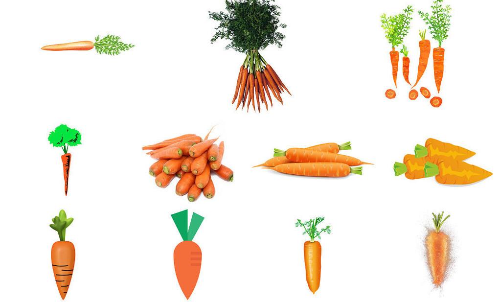 卡通蔬菜图片手绘胡萝卜2