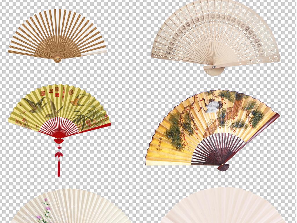 手绘矢量图免抠图高清高清晰素材中国扇子免抠素材素材中国纸扇中国