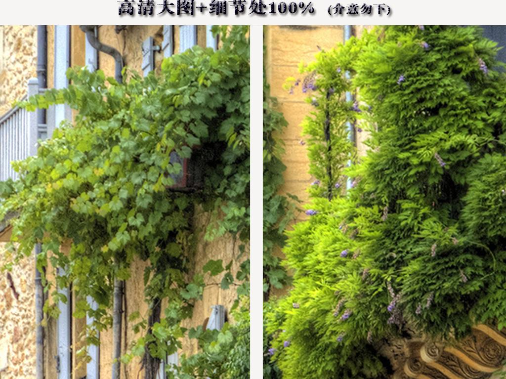 小镇街景道路老房子玄关背景墙图片