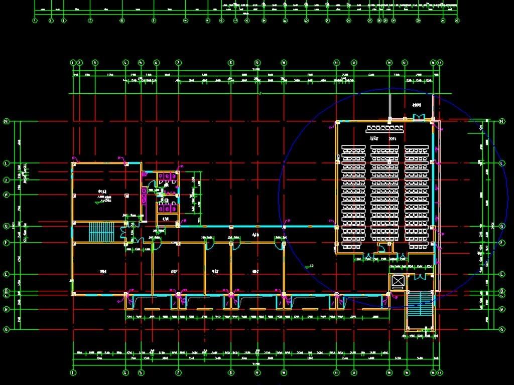 幼儿园cad全套建筑设计图附效果图