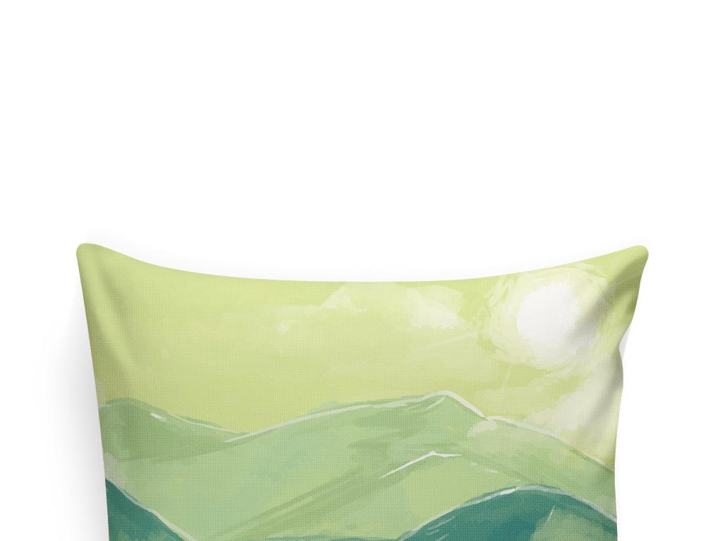 手绘风景抱枕图案图片下载ai素材-植物花卉图案-我图网