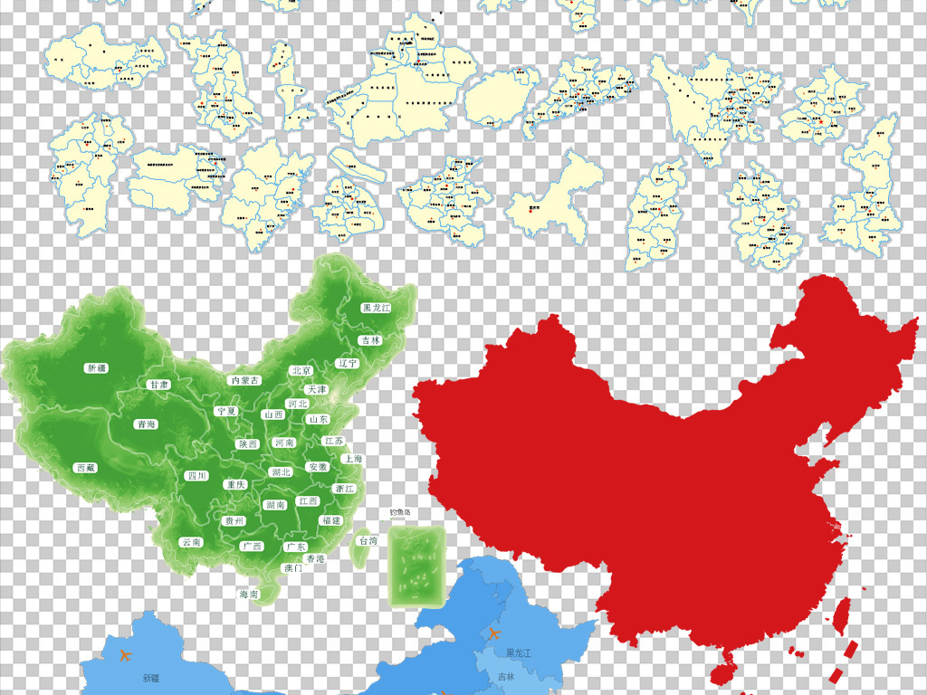 中国地图世界地图省份地图卡通地图创意地图手绘地图3d地图立体地图
