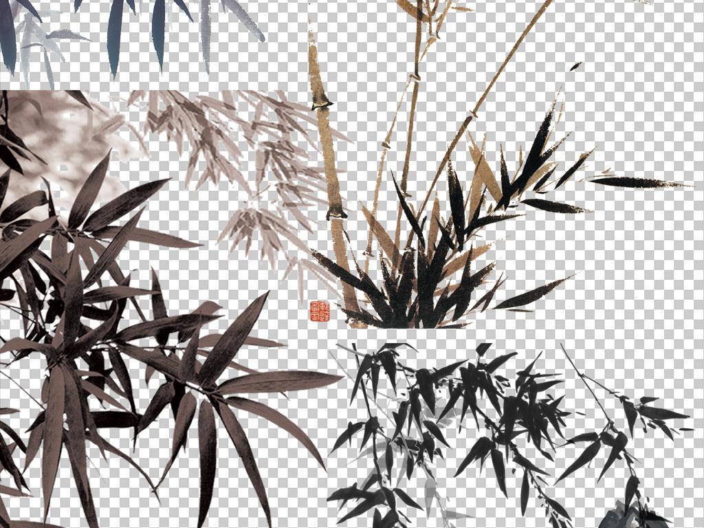 中国风竹子                                  手绘