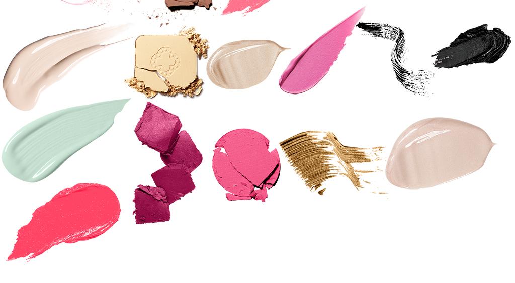 美容护肤化妆品粉底液口红笔刷面膜免扣素材图片