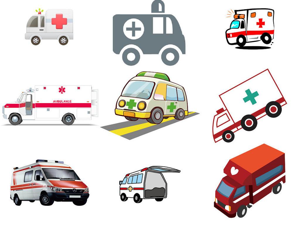 卡通救护车海报设计ps素材1