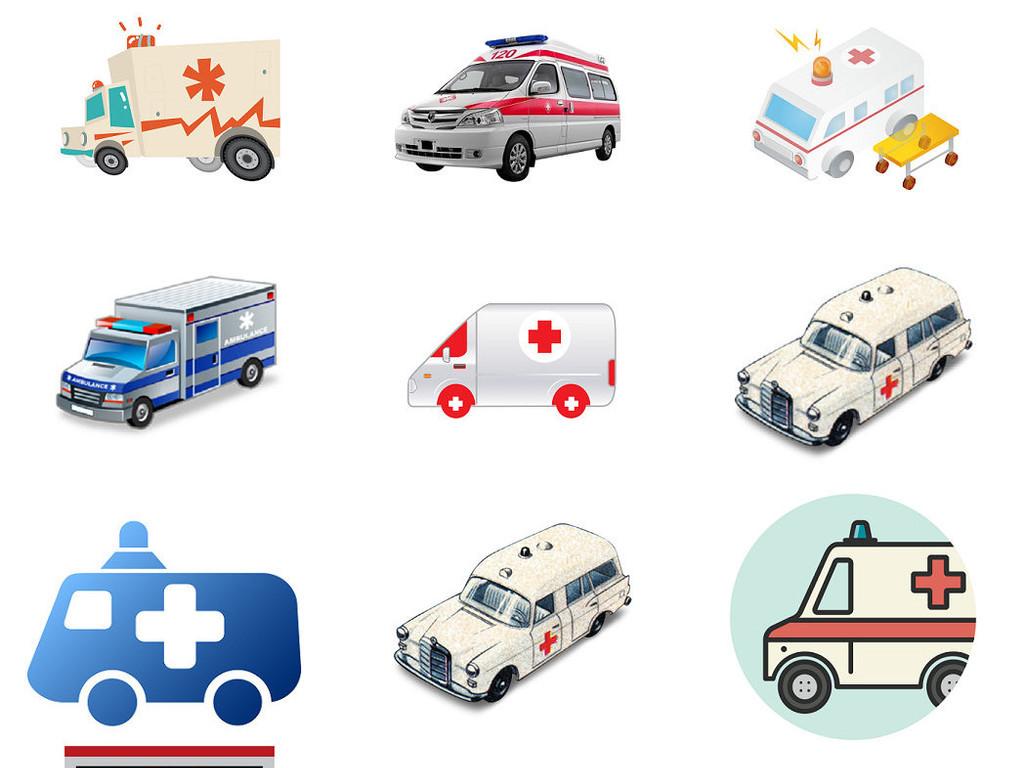 卡通救护车免抠png设计素材2图片