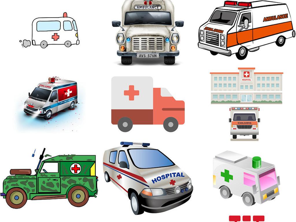 卡通救护车免抠png设计素材3图片