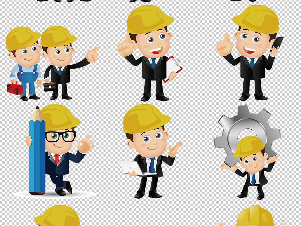 测量水电建筑人物工程师人物卡通人物人物动漫工程师人物素材卡通建筑