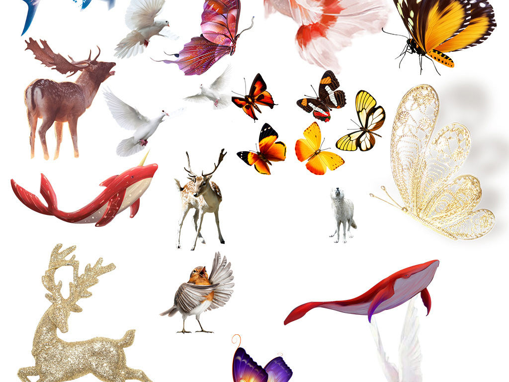 我图网提供精品流行各种动物PNG免抠素材大全下载,作品模板源文件可以编辑替换,设计作品简介: 各种动物PNG免抠素材大全 位图, RGB格式高清大图, 各种动物素材大全 动物PNG元素狗 兔子 鹰熊猫 鹿 麻雀大象