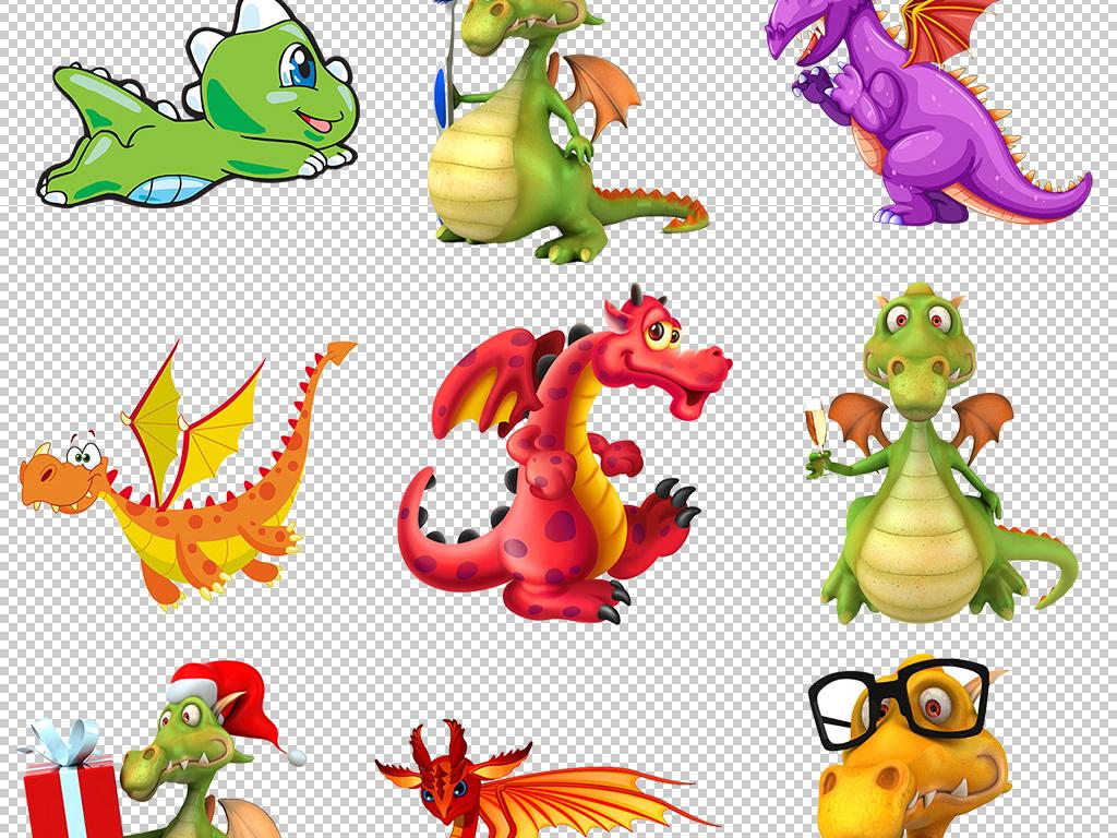 卡通手绘恐龙玩具图片png