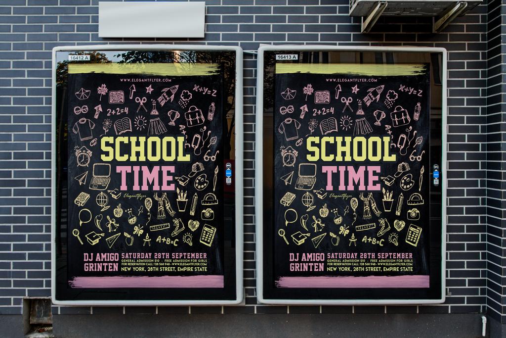 黑板粉笔手绘青葱青春校园记忆创意海报