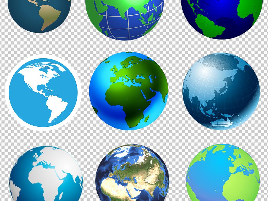 手绘地球地球表面地球一小时地图创意地球科技