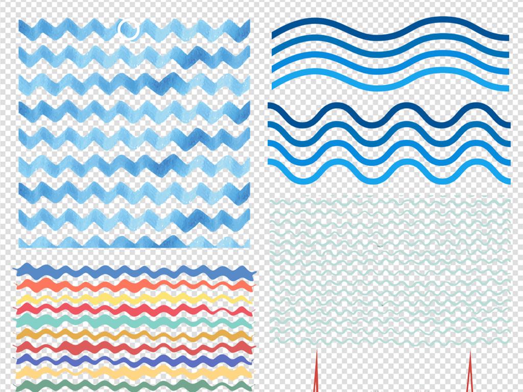 曲线底纹波浪线底纹线条底纹手绘线条