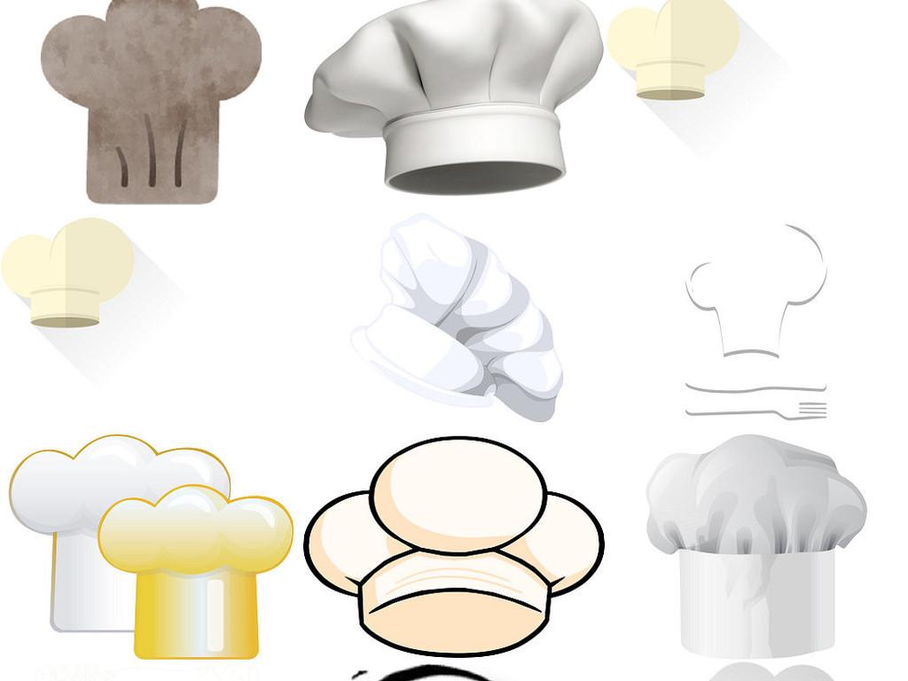 卡通厨师帽免抠png透明底素材1