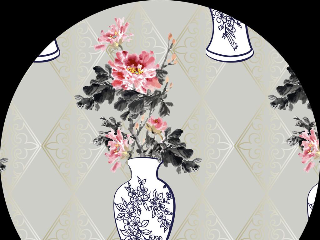 青花瓷手绘图片素材