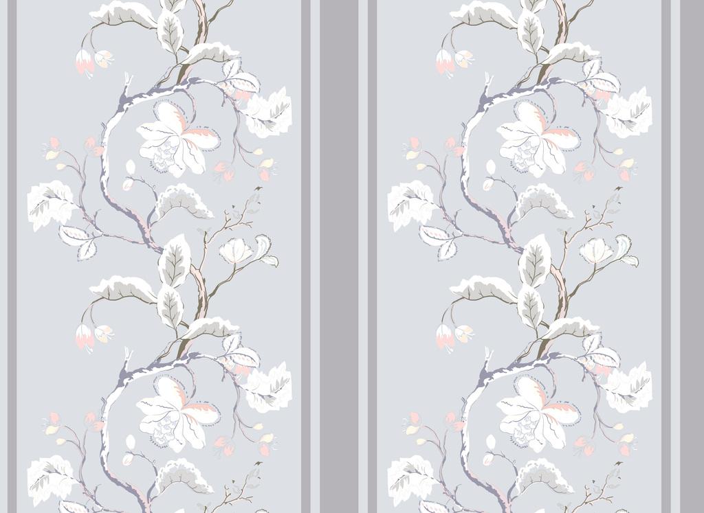 新款手绘树枝花卉设计图片下载psd素材-植物花卉图案
