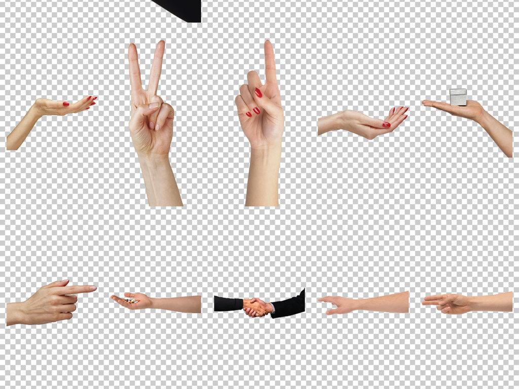 双手手指方向图片指向手势666手势