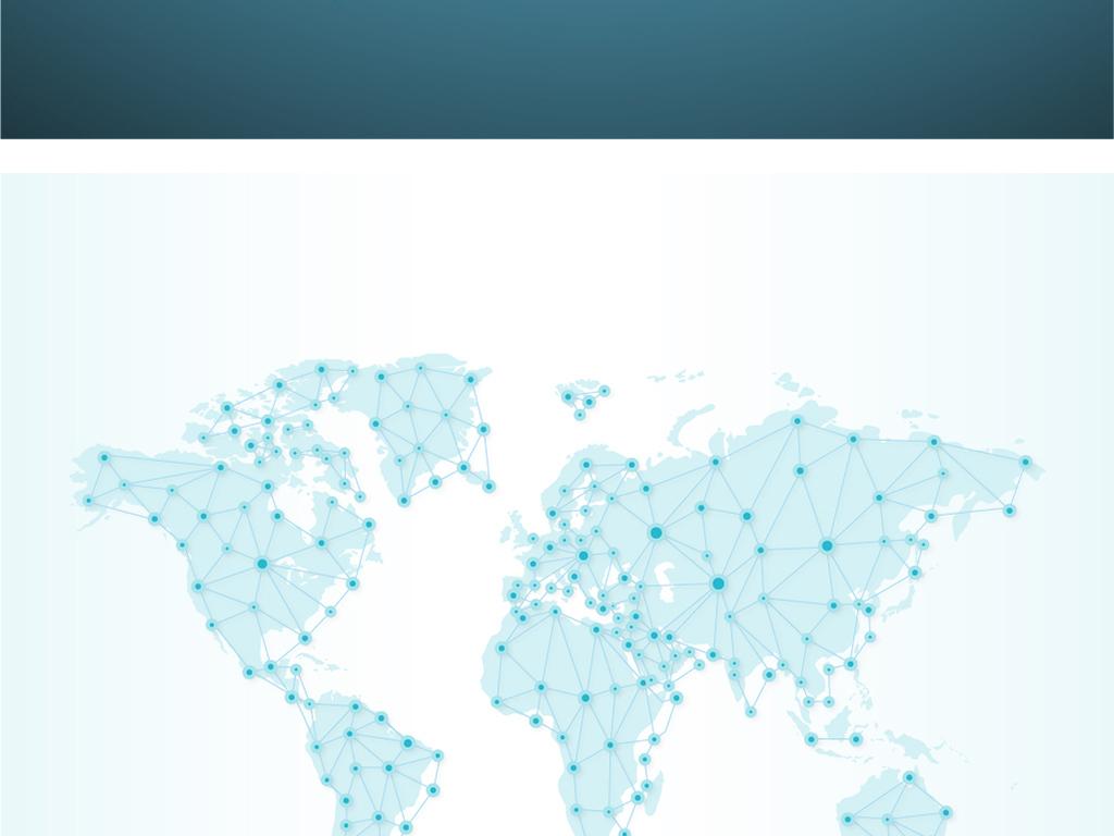 世界地图抽象矢量素材