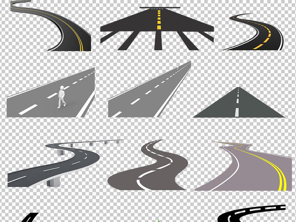 城市道路马路公路素材