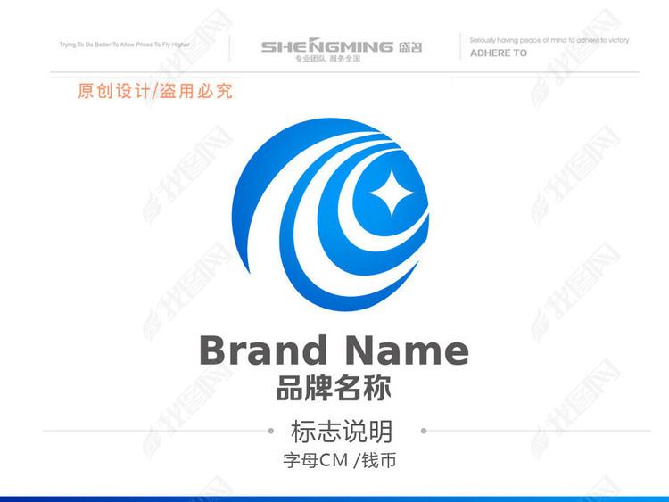 CR国际贸易钱币投资理财LOGO设计