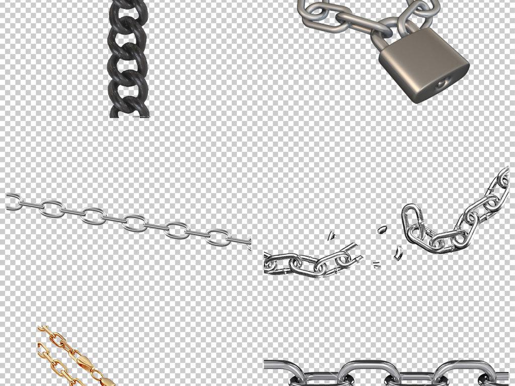 链条铁链免抠png透明图层素材图片