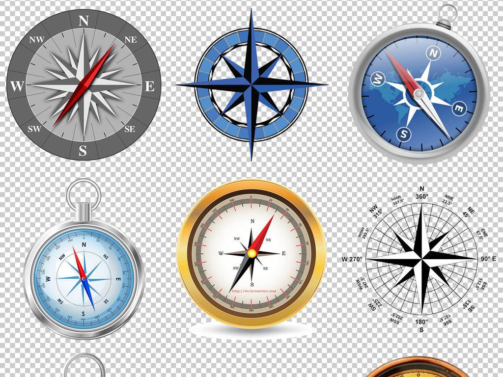 各种指南针免抠png透明图层素材图片