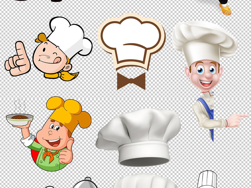 厨师简笔画大全带颜色