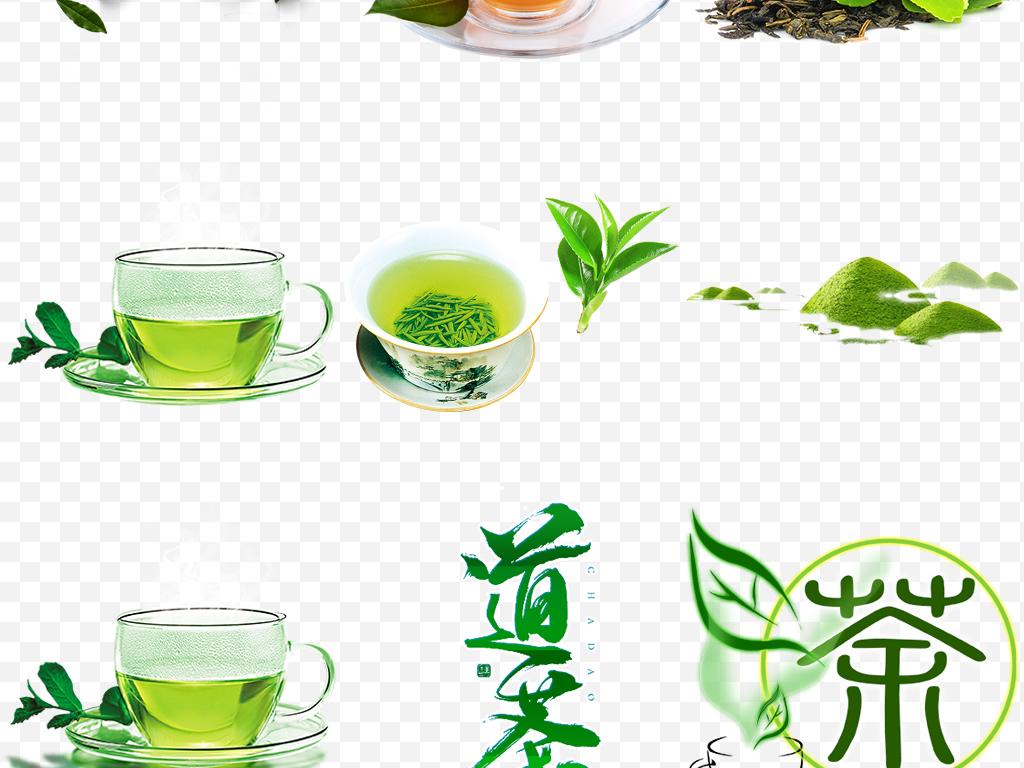 中国风禅与茶壶茶叶茶字茶具茶园png素材图片