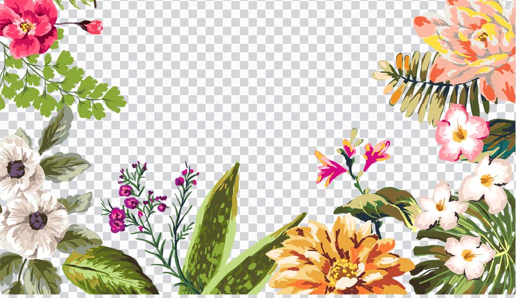 png)手绘水彩png水彩剪贴画                                  花卉