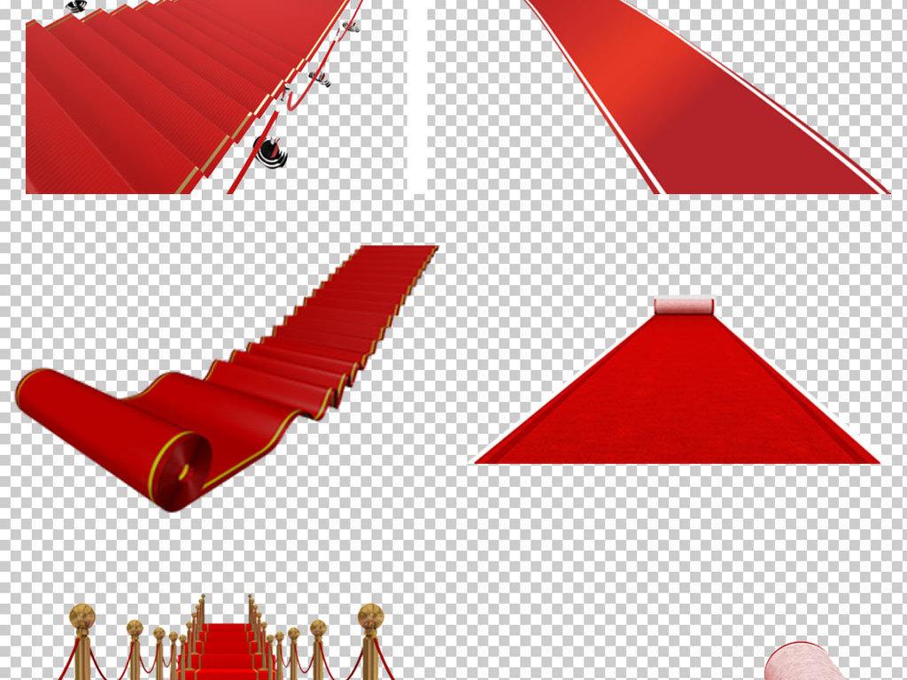 各种红地毯免抠png透明图层素材图片
