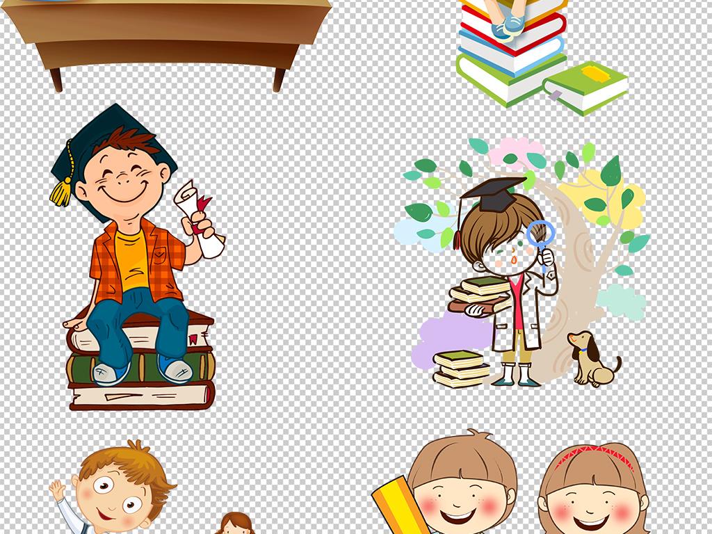 书包卡通小孩卡通人物人物开学图片学习小孩卡通图片人物卡通卡通学习