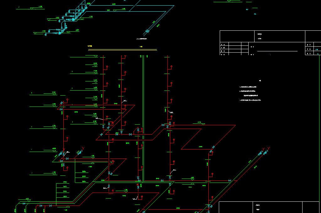 商住楼给排水CAD施工图