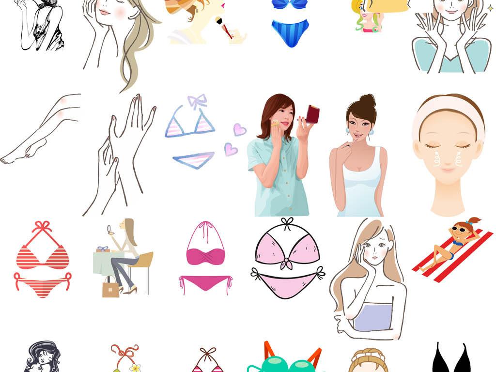 笑脸美女素材手绘卡通手绘美女卡通手绘时尚美女卡通素材卡通美女手绘