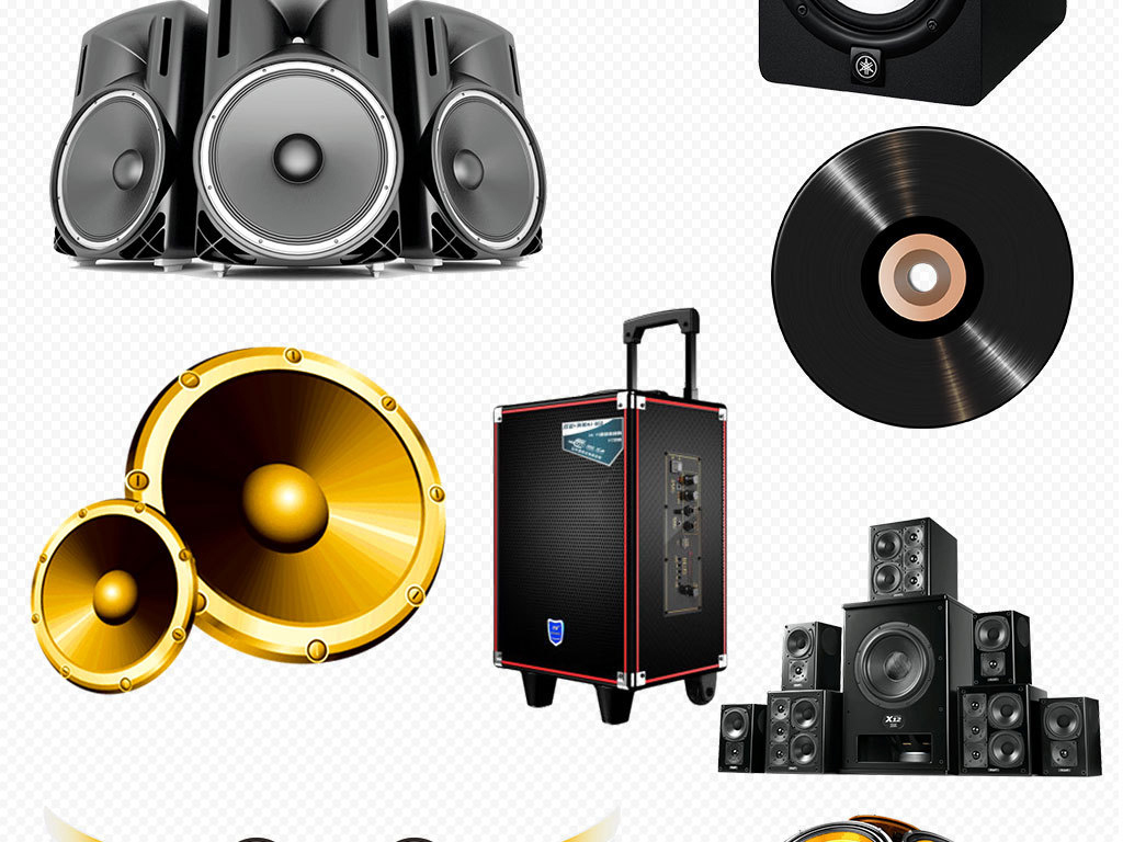 喇叭音响设备png海报素材图片下载png素材 效果素材