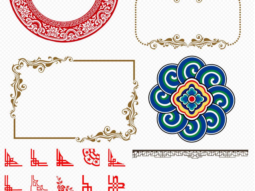 古风古典古典花纹图案祥云中式古典花纹中式花纹中式底纹窗花