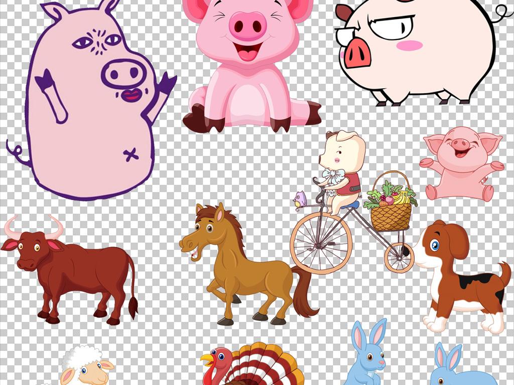 手绘猪                                  猪素材猪动物