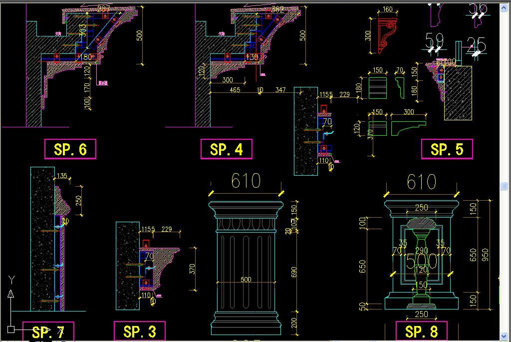 标准欧式大理石别墅CAD立面图设计平面图下载 图片10.88MB CAD图