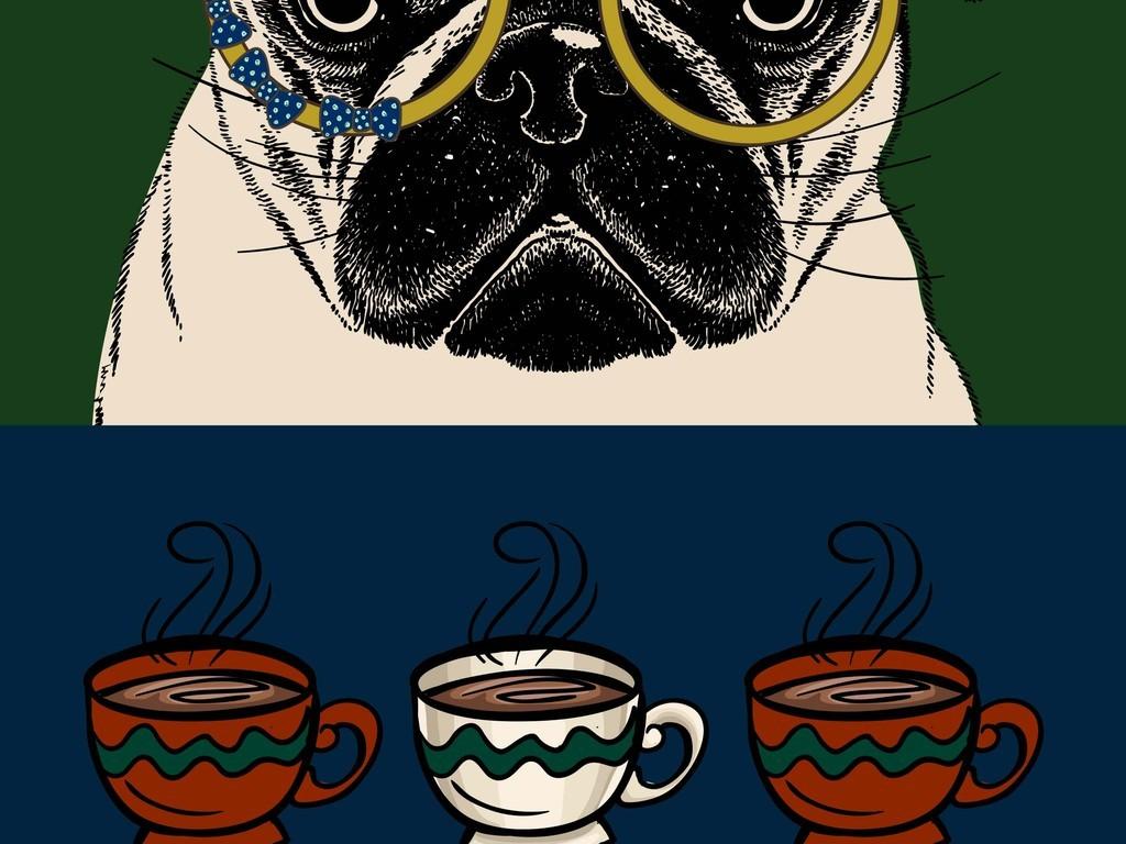 手绘矢量图狗狗设计(图片编号:16873612)_动物_我图网
