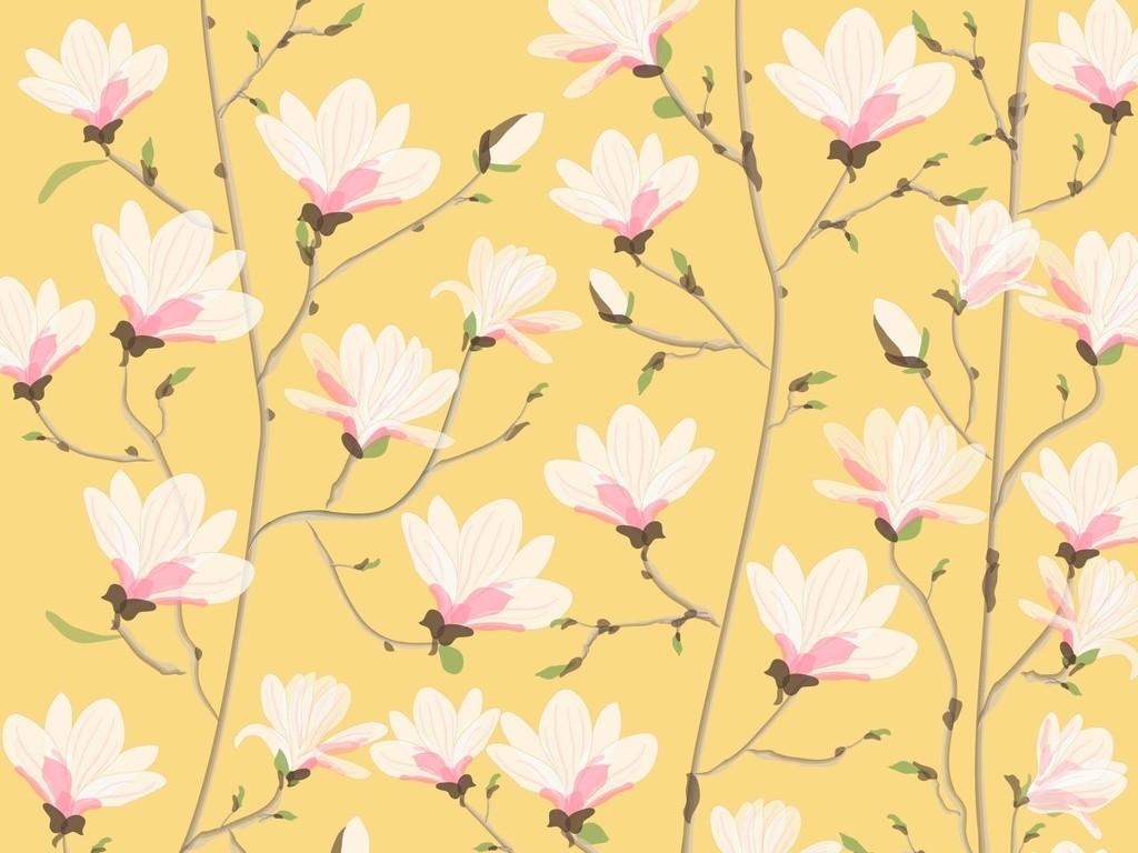产品图案设计 服装/配饰印花图案 植物花卉图案 > 矢量图花卉花枝玉兰