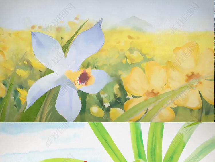 水墨画春天花朵小鸟视频