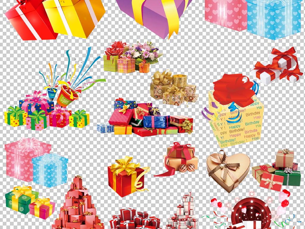 背景图标png图手绘素材彩色礼品盒免抠素材透明素材元素素材彩色素材