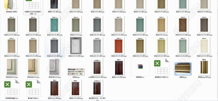 图森整木定制色板线条小样照片