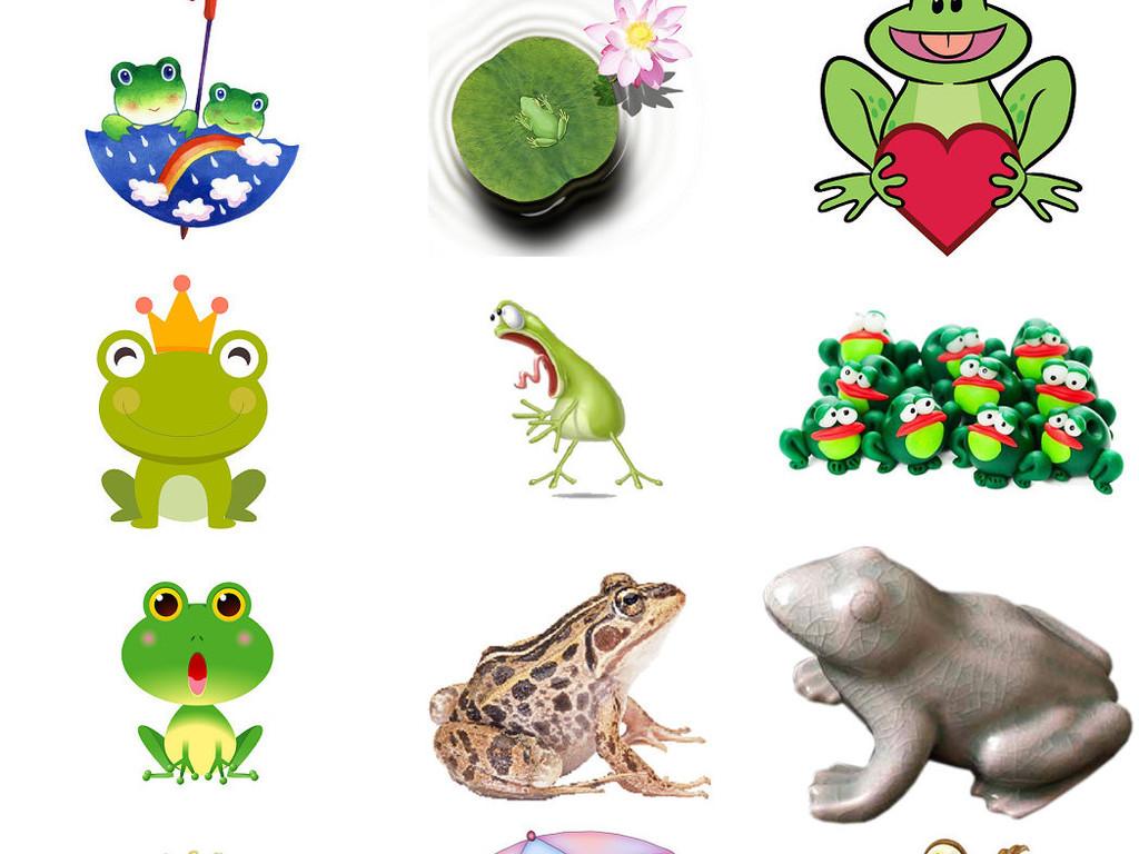 卡通手绘绿色青蛙海报设计元素3(图片编号:16878626)