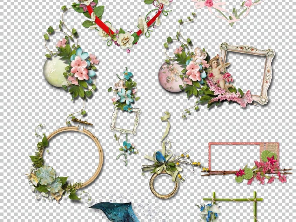 边框相册排版边框矢量花边古典花边花边边框简单花边图案蕾丝花边素材