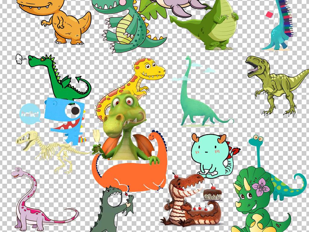 多款恐龙图片远古生物png免扣素材图片