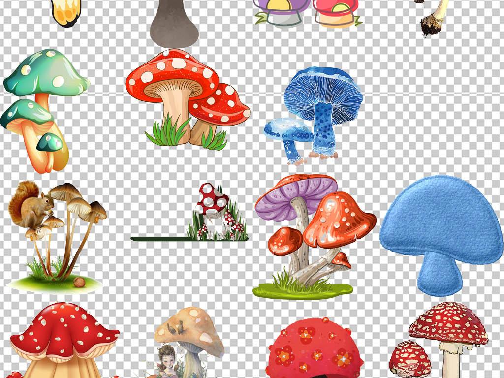 卡通可爱蘑菇小屋png海报素材图片下载psd素材
