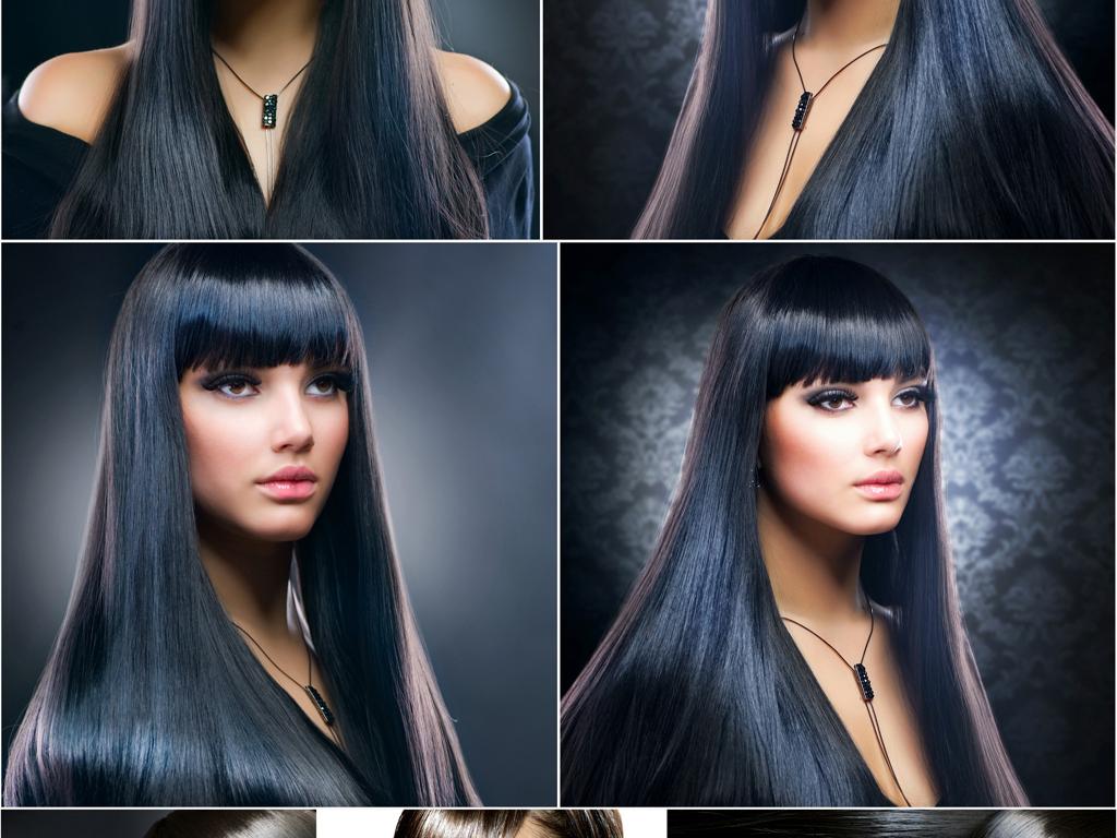 时尚摩登欧美女模特美容美发海报高清图片素材2图片