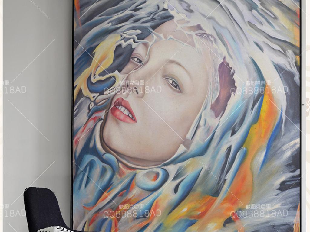 现代创意幻想人物原创油画艺术玄关