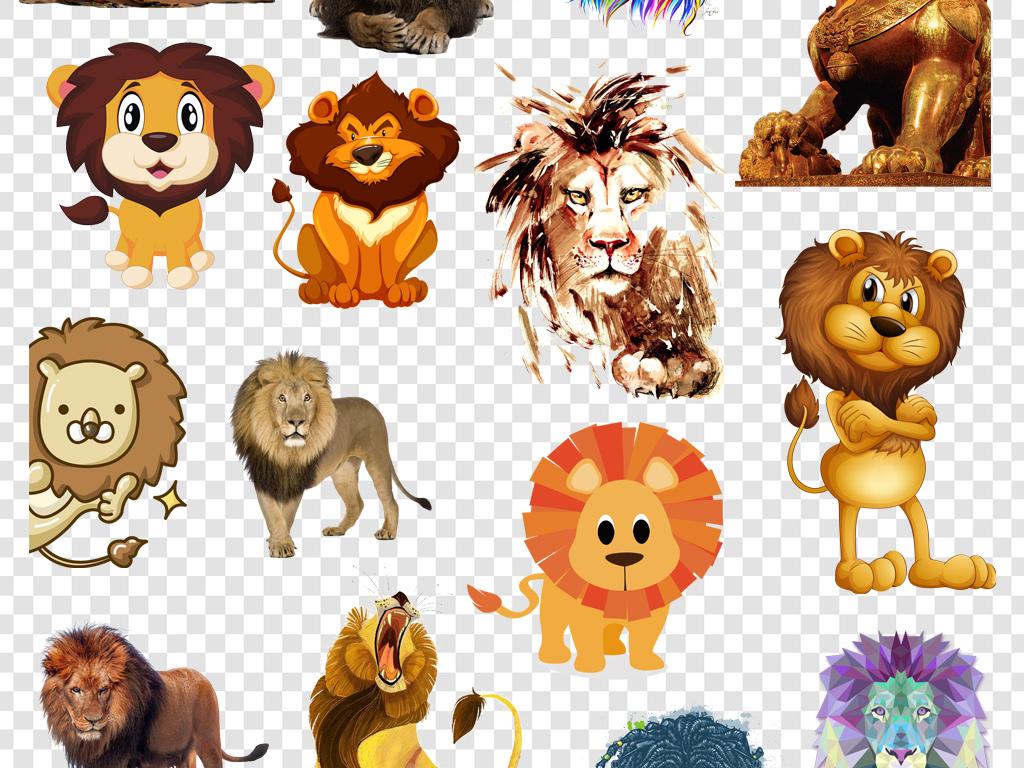 狮子头                                  可爱狮子手绘
