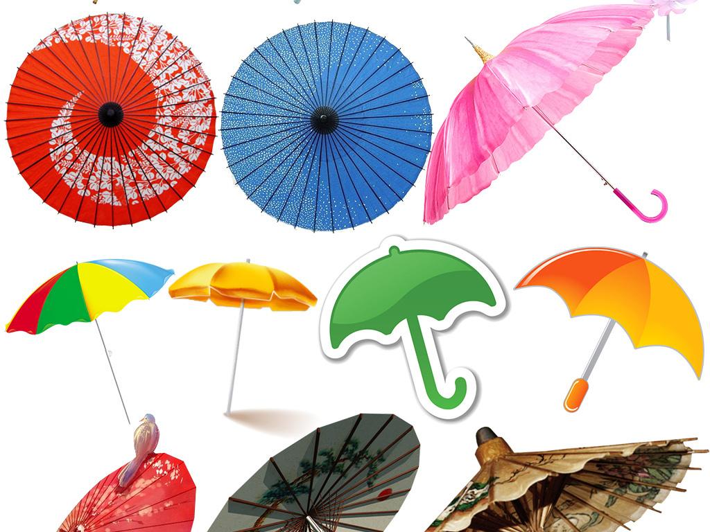 多款雨伞古典文雅风油纸伞卡通伞素材大全